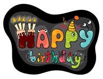 Funny characters Happy Birthday Royalty Free Stock Photo