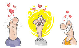 Funny characters in love. Royalty Free Stock Photo