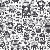 Funny characters ornament. Seamless  pattern Stock Image