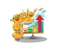 Funny characters of sale: letters presenting discounts Stock Images