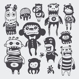 Funny characters set royalty free illustration