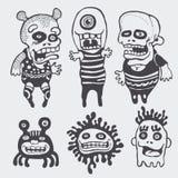 Funny characters set. Illustration Stock Photo
