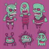 Funny characters set. Illustration Stock Images