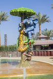 Funny characters in a water park Stock Image