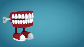 Funny chattering toy HD animation