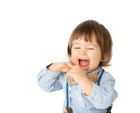 Funny cheerful baby Stock Image