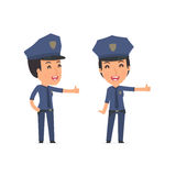Funny and cheerful Character Constabulary showing thumb up as a Royalty Free Stock Images
