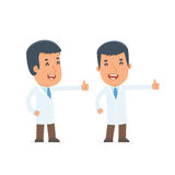 Funny and cheerful Character Doctor showing thumb up as a symbol Royalty Free Stock Photo