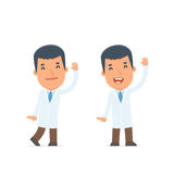 Funny and Cheerful Character Doctor welcomes viewers Stock Photos