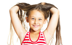 Funny cheerful little girl Stock Image