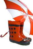 Funny cheerful rainboots Stock Image