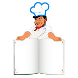 Funny Chef and book menu Royalty Free Stock Photos