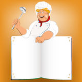 Funny Chef and book menu Royalty Free Stock Images