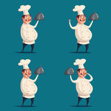 Funny chef, cute character. Vector cartoon illustration Stock Photography
