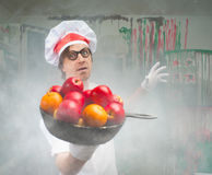 Funny chef Stock Image