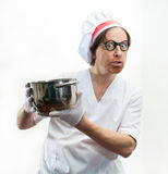Chef with pan Stock Photo