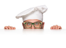 Funny chef peeking Stock Photography