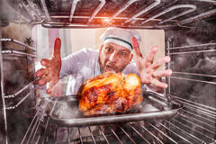 Funny chef perplexed and angry. Loser is destiny! Stock Images