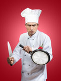 Funny chef samurai Stock Photo
