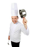Funny chef smiling Stock Photos