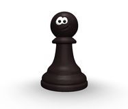 Funny chess pawn vector illustration