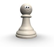 Funny chess pawn Royalty Free Stock Images