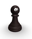 Funny chess pawn Stock Photos