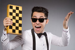 Funny chess player Stock Image