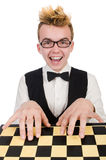 Funny chess player Stock Photography