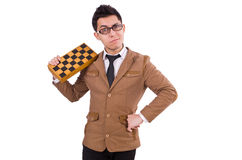 Funny chess player Stock Images
