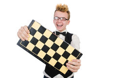 Funny chess player Royalty Free Stock Photo