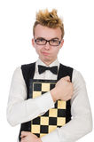 Funny chess player Royalty Free Stock Image