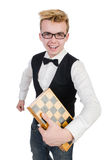 Funny chess player Stock Photo