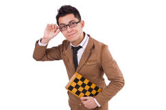 Funny chess player isolated Stock Photos