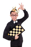 Funny chess player isolated Stock Photo