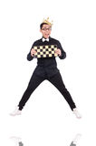 Funny chess player Royalty Free Stock Photos