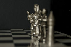 Funny chess situation Royalty Free Stock Images