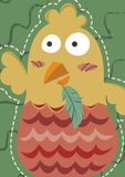 Funny Chicken Art Pastel stock illustration