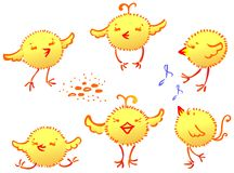 The funny chickens Royalty Free Stock Images