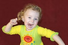 Funny child Stock Images