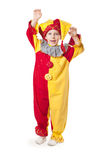 Funny child clown costume Stock Image