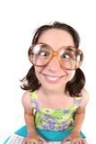 Funny Child Crossing Her Eyes Royalty Free Stock Image