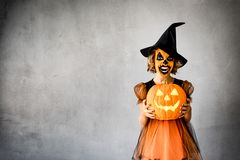 Halloween Pumpkin Autumn Holiday Concept Stock Photography