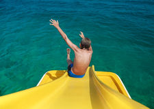 Funny child enjoying summer vacation playing in sea Royalty Free Stock Image