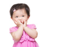 Funny child girl royalty free stock image