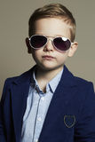 Funny child.little boy in sunglasses.stylish kid Royalty Free Stock Images
