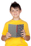 Funny child with reading a book Stock Photos