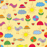 Funny child seamless  pattern Royalty Free Stock Image