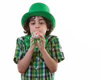Funny Child during St. Patricks Day Royalty Free Stock Image