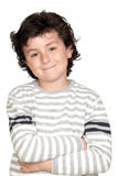 Funny child with striped sweater Stock Images